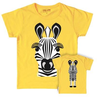 coq en pate short sleeves t shirt mibo zebre zebra mibo zebre zebra jaune y 2y kinder t. Black Bedroom Furniture Sets. Home Design Ideas