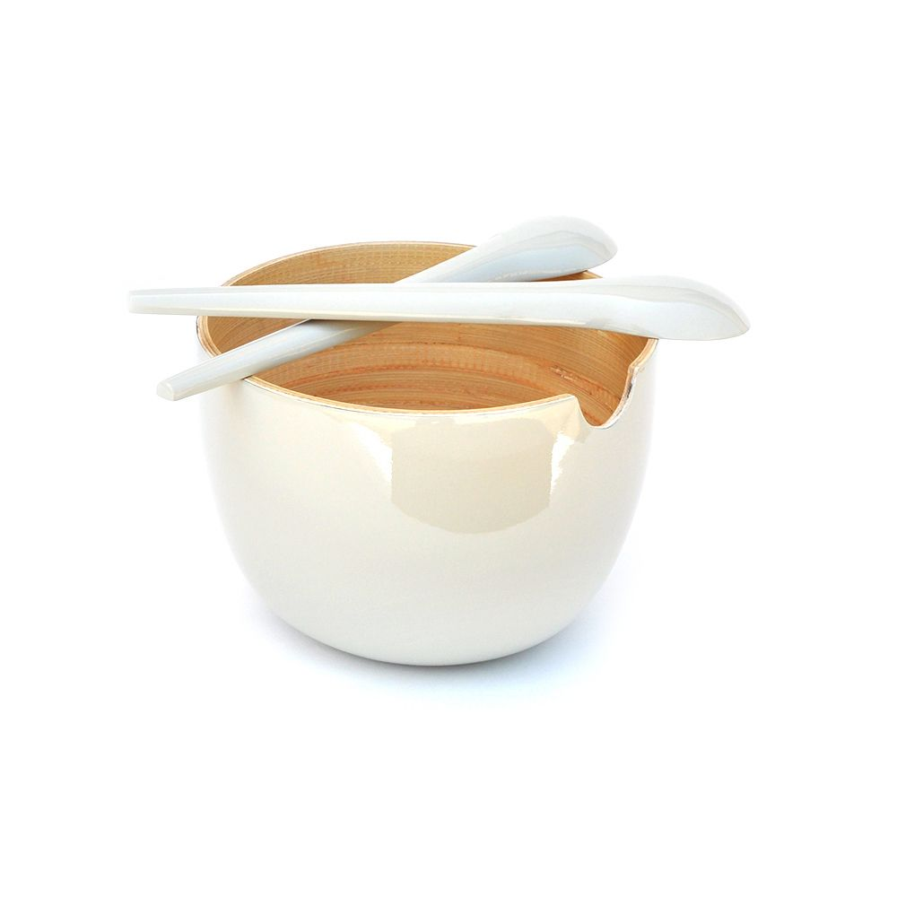GLOBO Small - salad bowl, Blanc Blanc, Taille unique
