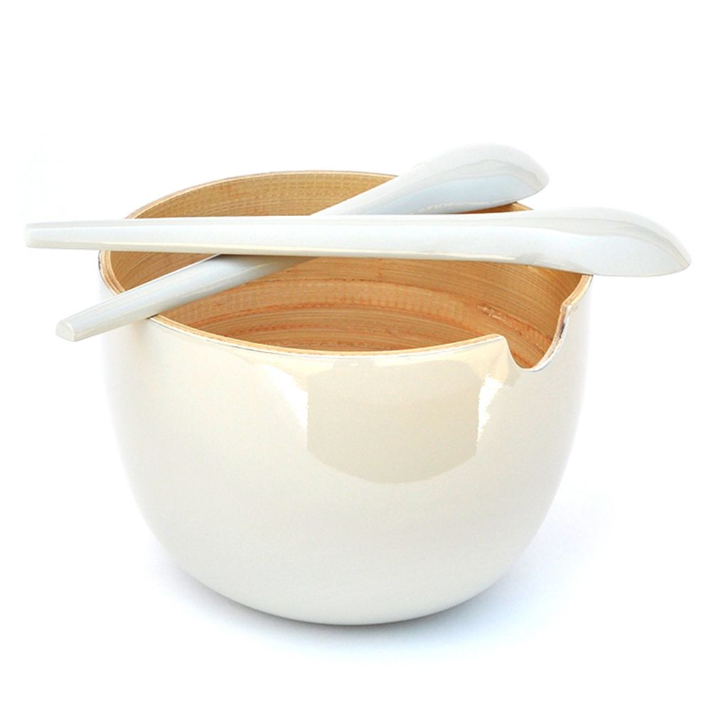 GLOBO Large - salad bowl , Blanc Blanc, Taille unique