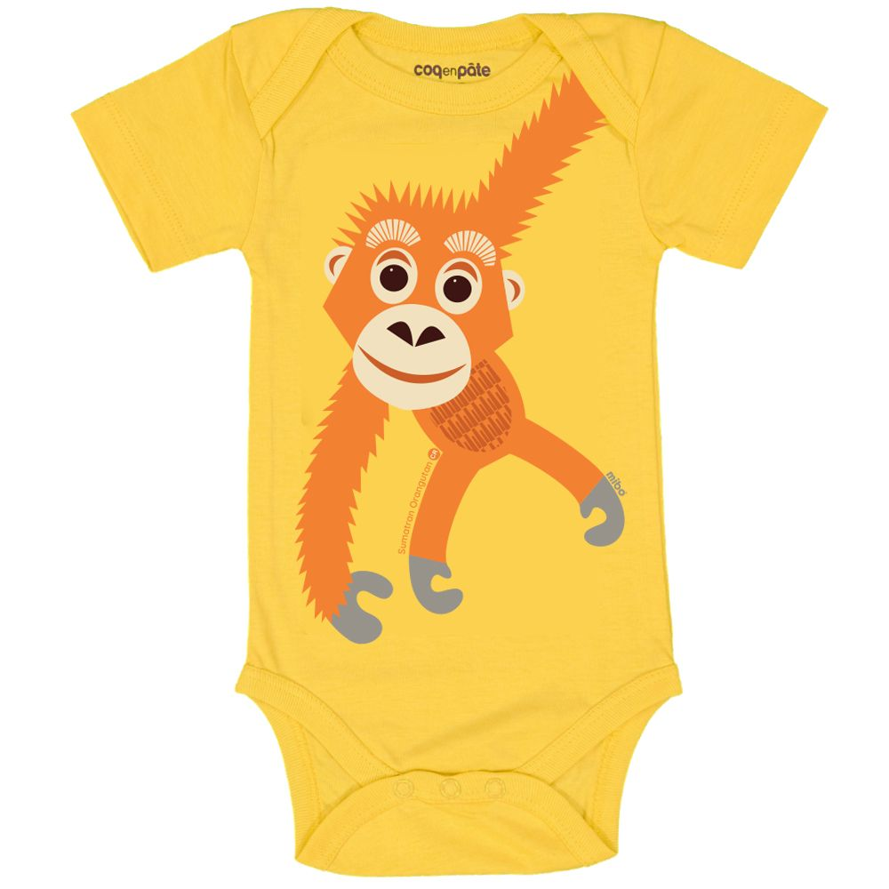 Body MC Orangutan YELLOW, 12M