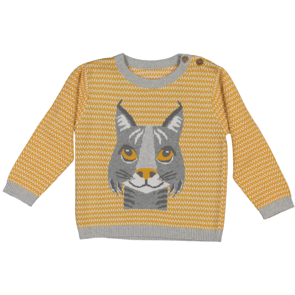 SWEAT Manches longues, Lynx Moutarde, 2A