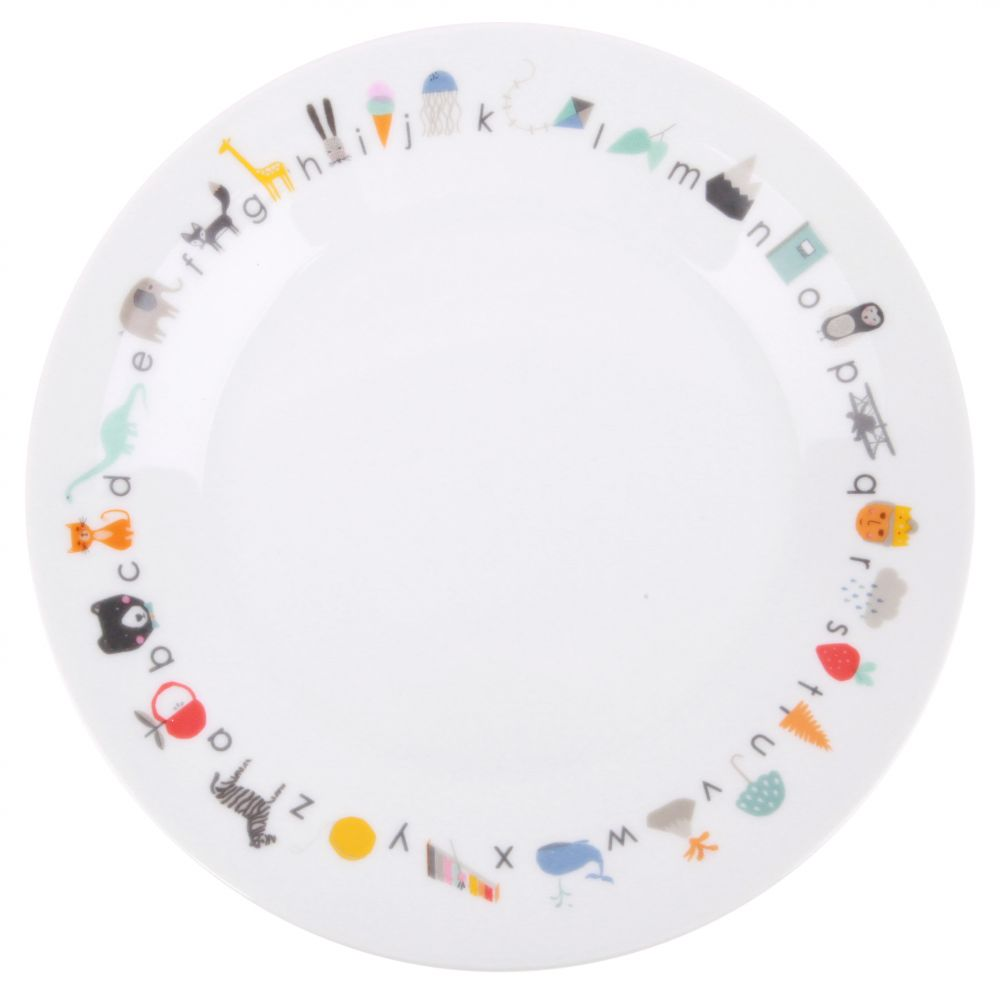 ABC - Porcelain Plate