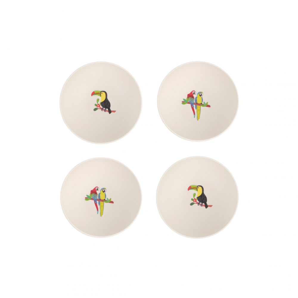 4pk Bowl Toucan and Macaw