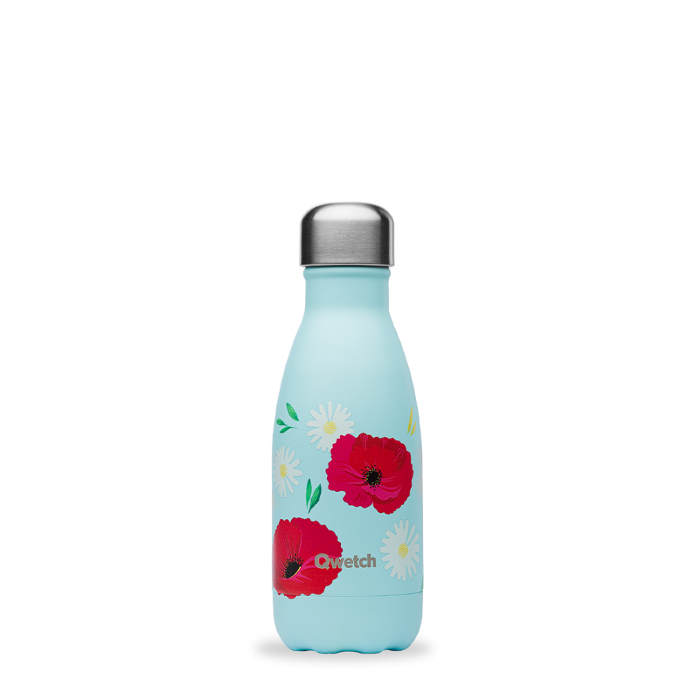 Bouteille inox iso coquelicot 260ml Bleu tendre, 260ml