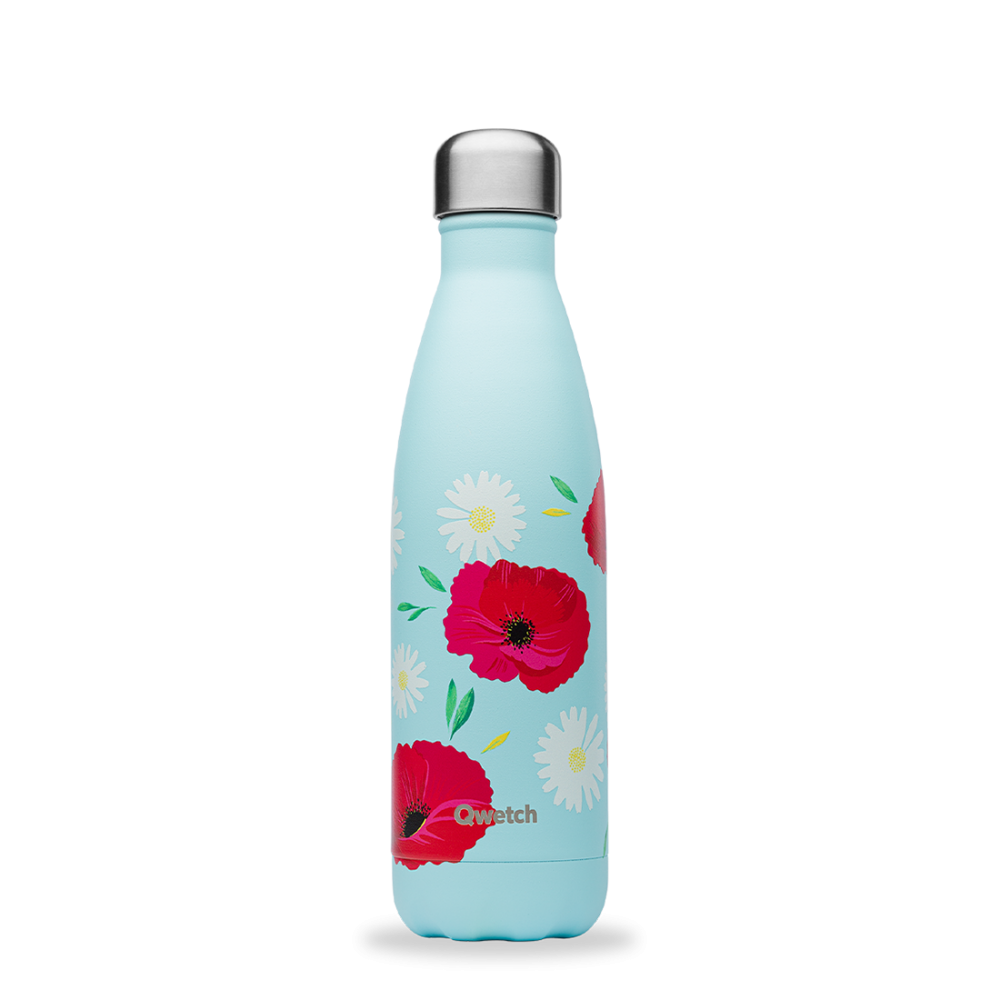Bouteille inox iso coquelicot 500ml Bleu tendre, 500ml