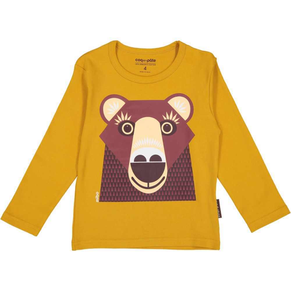 T-shirt manches longues ours brun MIBO OURS BRUN/Brown bear, 4Y