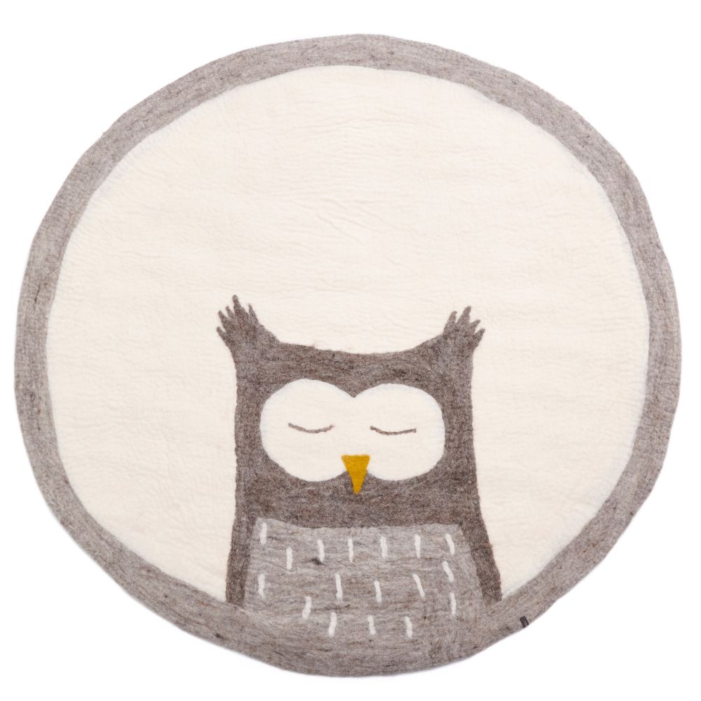 Tapis Owly pierre-naturel Pierre clar-naturel, rd 120 cm
