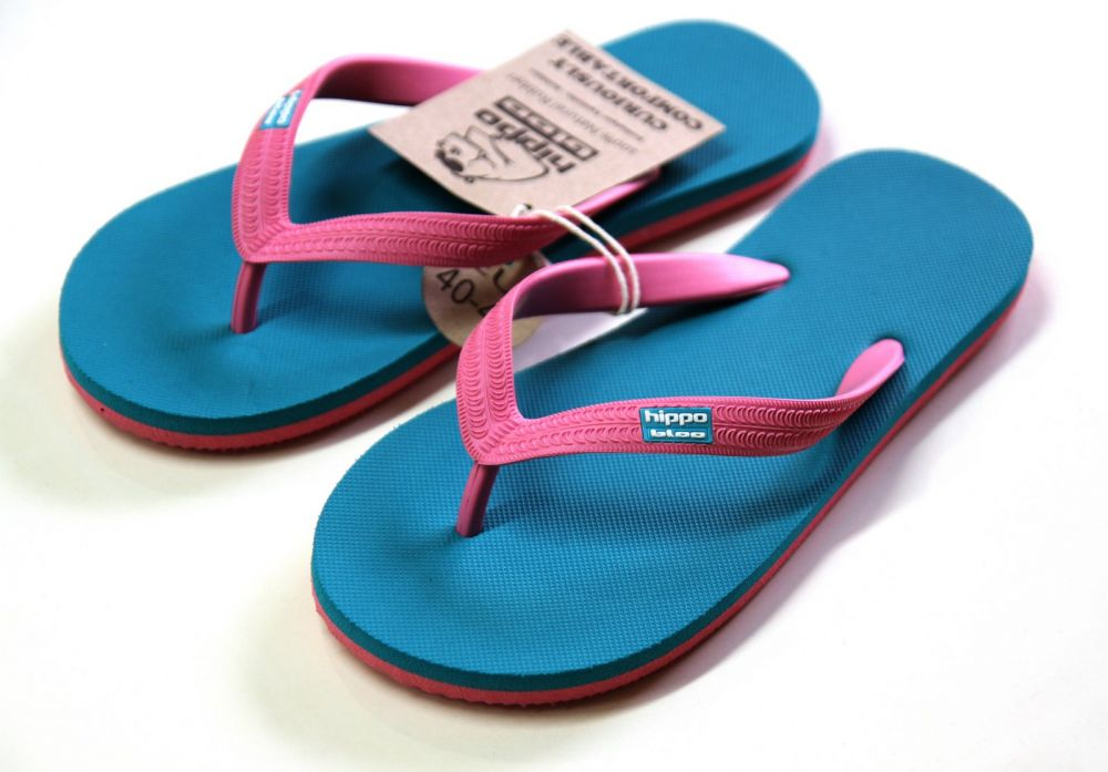 Tongs, Turquoise Pink Turquoise Pink, 39-40