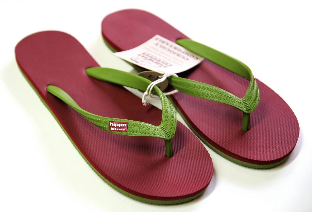 Tongs, Burgundy Green Burgundy Green, 45-46
