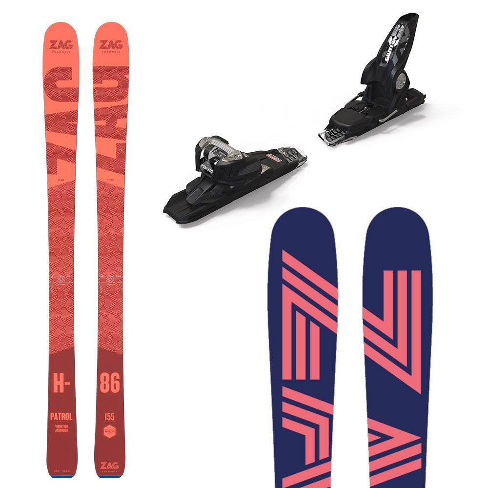 Pack H86 Lady: Skis + fixations 155