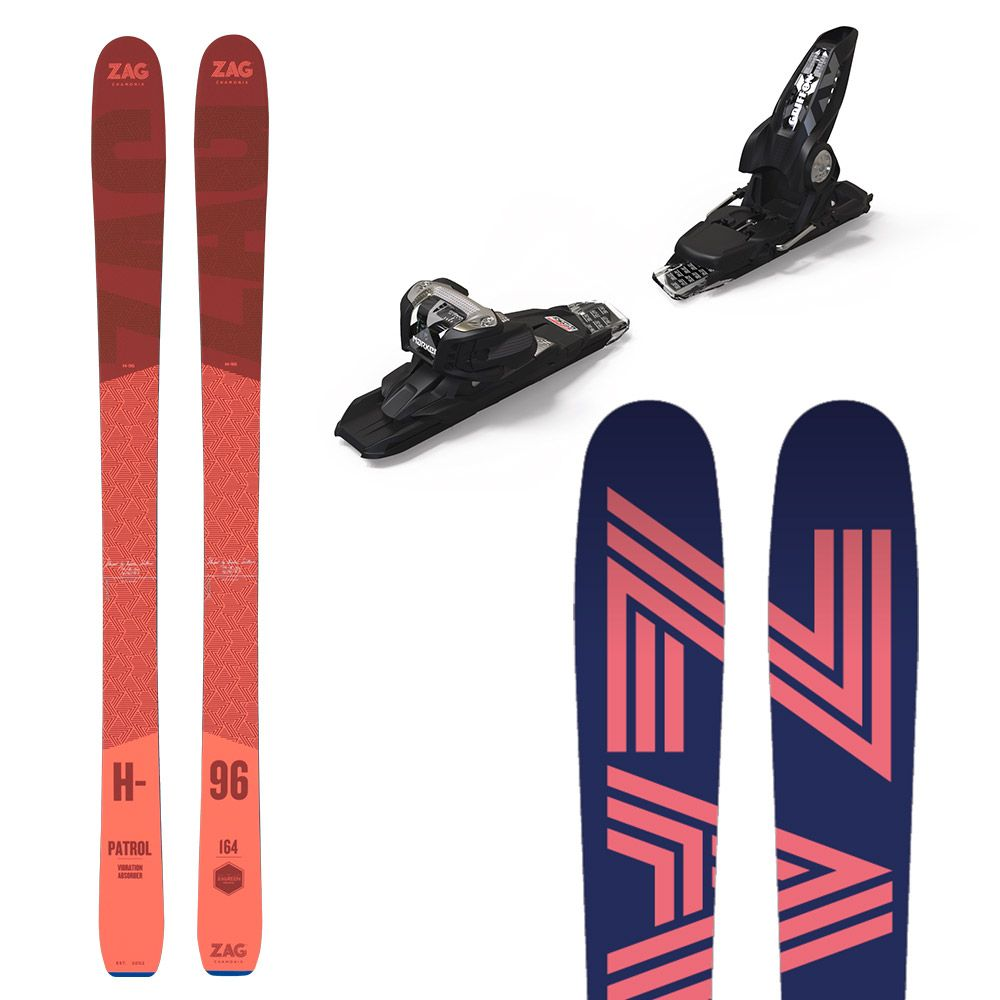 Pack H96 Lady: Ski + fixations 156