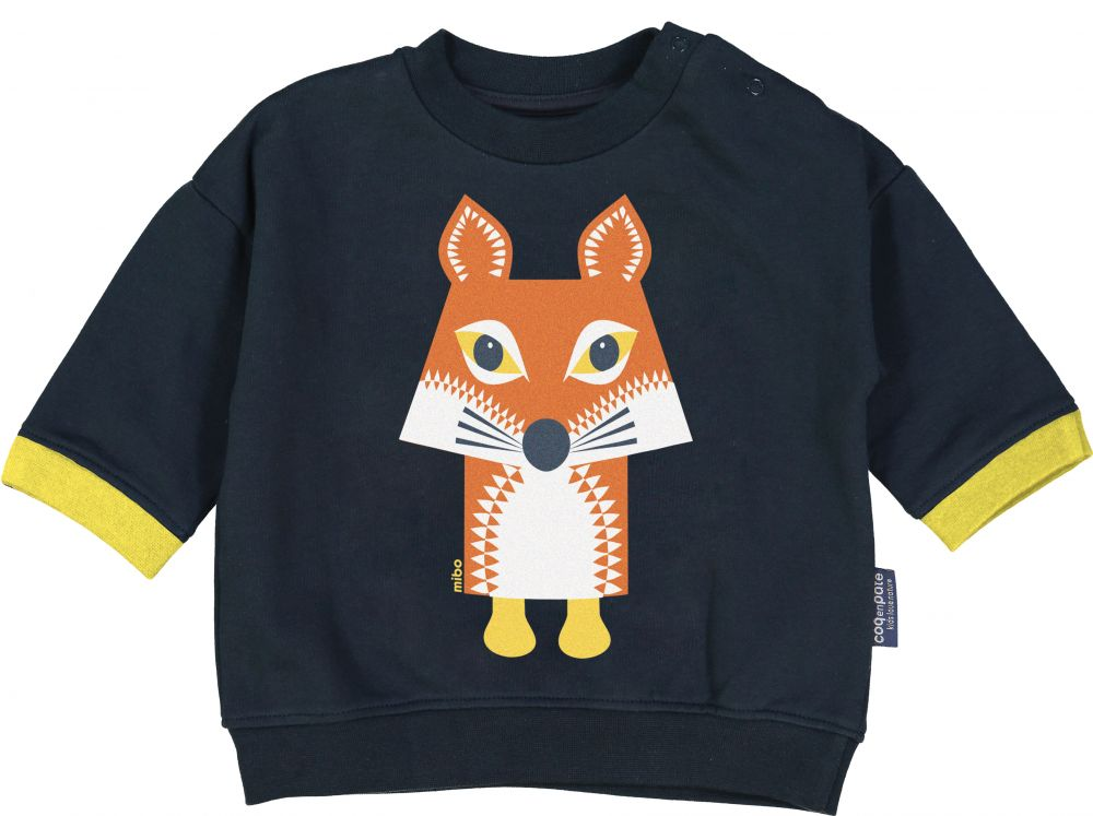 SWEAT ML, Renard gris ardoise, 3-6M