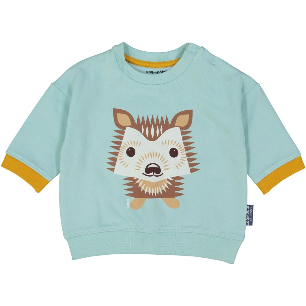 SWEAT ML, Herisson bleu pastel, 3-6M
