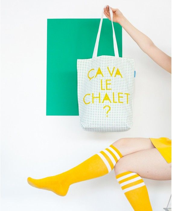 """Bag ""ça va le chalet?"""" 38x43cm ? 100% cotton ? 1"