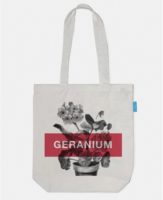 Bag Geranium 38x43cm ? 100% cotton ? 1
