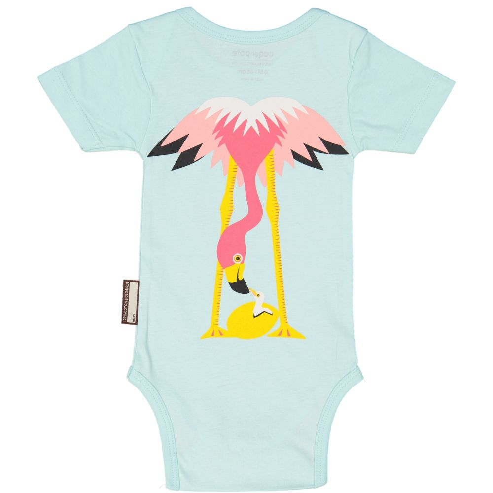 body manches courtes, Flamant rose MIBO flamant Rose, 3-6M