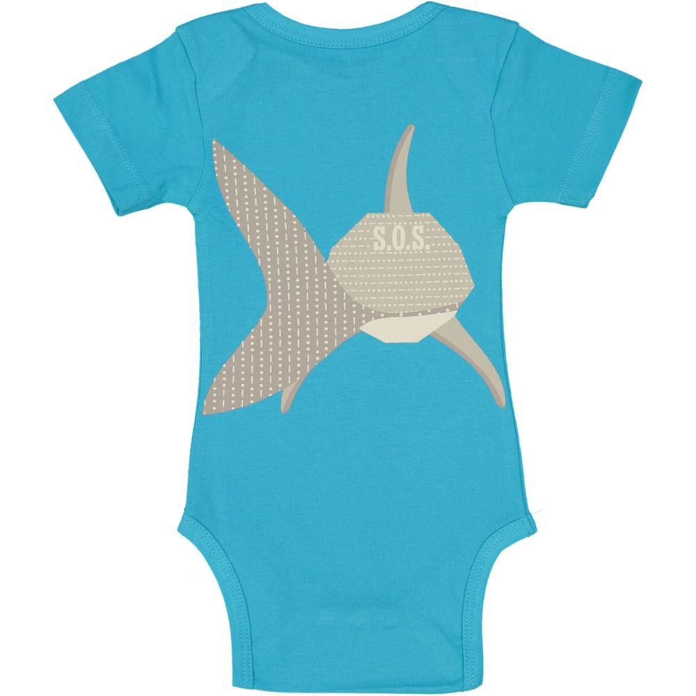 body manches courtes, MIBO REQUIN/shark MIBO REQUIN/shark (turquo, 6M