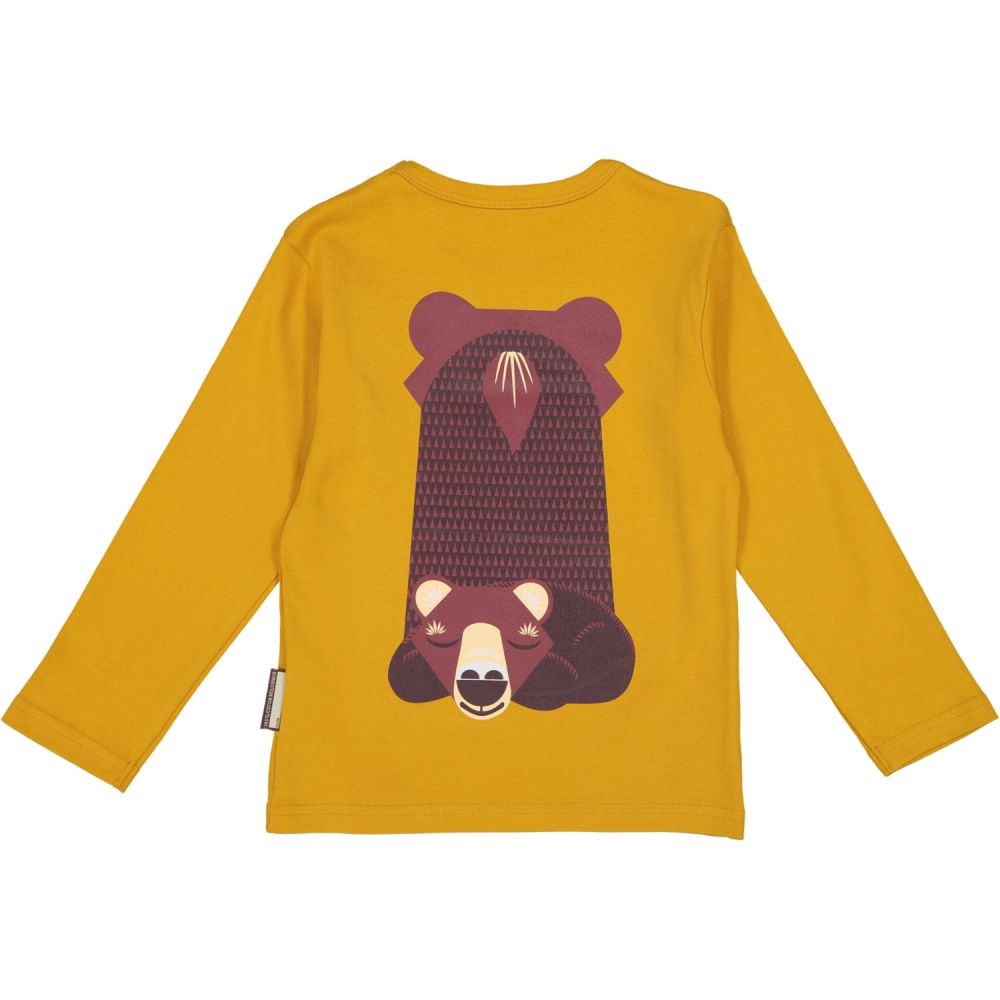 T-shirt manches longues ours brun MIBO OURS BRUN/Brown bear, 6Y